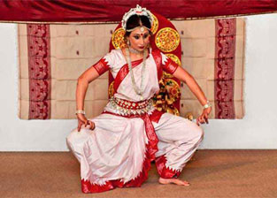Traditional Odissi Dance Pose